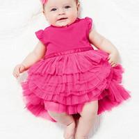 Dress Rok Tutu Anak/Bayi Perempuan Dusty Pink