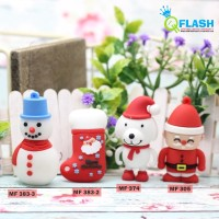 Flashdisk Karakter Christmas Series ( Santa,Snow,Kaos kaki natal )16GB