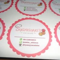 Jual Sticker Vinyl Custom Print + Laminasi + Cutting Murah
