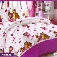 sprei Masha n the bear ukuran 100x200