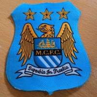 Patch Woven Emblem Bola Manchester City