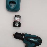 Mesin Bor Cordless Drill Obeng 1 Baterai Makita DF 330