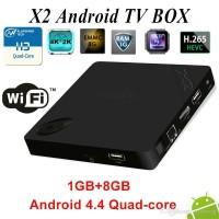 Android TV Box X2 Quad Core Kitkat 4.4 1GB 8GB H.265 4K Full HD XBMC