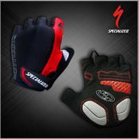 Gloves / Sarung tangan Half SPECIALIZED Black stripe Red ORIGINAL