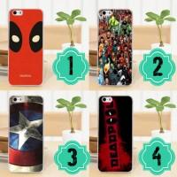 Jual phone case custom captain america deadpool casing smartphone Murah