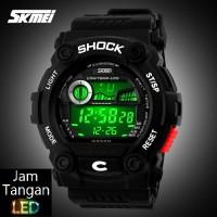 Jual Jam Tangan Digital Pria Oakley SKMEI Wave Hitam Putih Original