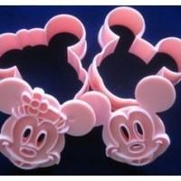 Jual Cetakan Alat Cetak Pemotong Kue Kering Model Karakter Mickey Minnie 10 Murah