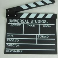 harga Clapper Board Papan Tulis Shooting Syuting Film Universal Studios 129 Tokopedia.com
