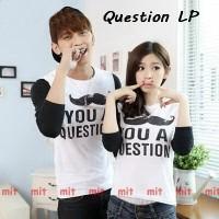 Pusat Lengan Panjang Couple | Baju Kapel Keren | Kumis Question