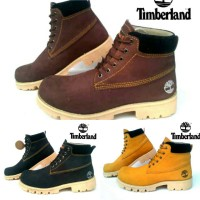 Sepatu boot timberland safety hitam coklat tan brown