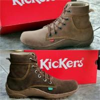 Sepatu boot kickers brown coklat muda