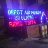 tulisan lampu led / led sign DEPOT AIR MINUM ISI ULANG