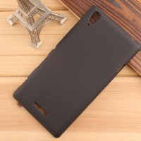 Rubberized Hardcase Hard Case Sony Xperia T3 - Hitam