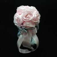 Hand bouquet bunga tangan pesta pernikahan bc5102 - bunga mawar pink