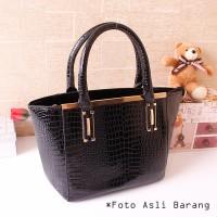 harga 8993 Tas Hitam Elegan Wanita Pergi Mal Pesta Hand Bag Korea Pu Leather Tokopedia.com