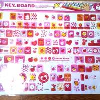 Sticker Stiker DIY Scrapbook Cute Laptop Keyboard Kawai Pink Apple