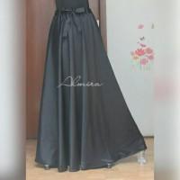Bawahan / Rok / Payung / Panjang / Pesta / Velvet Umbrella Skirt Hitam