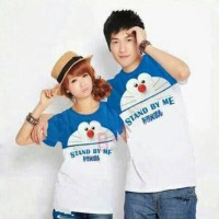 Kaos couple Doraemon stand by me