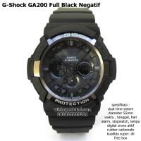 jam tangan digital sport dual time g-shock ga 200 super full black neg