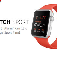 Apple Watch 42mm Silver Aluminum Case With Orange Sport Band