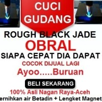 Rough Black Jade Nagan Raya,Aceh Tembus Senter -40