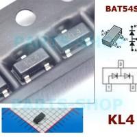 BAT54S Dioda 200mA 30v smd Schottky barrier diode BAT54 KL4 sot-23