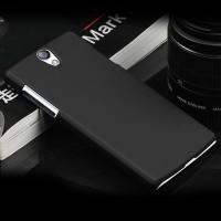 Rubberized Hardcase Hard Case Oppo Find 5 Mini R827 - Hitam