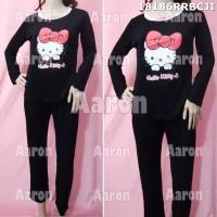 Baju Tidur Celana Tangan Panjang Hello Kitty 18186