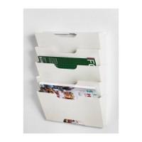 IKEA KVISSLE Rak Koran / Majalah pada Dinding - Putih