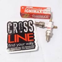 Busi Double Iridium Ignimax Daytona Racing Klx Dtracker atau Lainnya