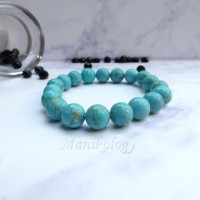 Jual Ready Stock Gelang Batu Turquoise 10mm Cewek | Cowoq | Batu Pyrus Murah