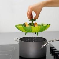 Alat Kukus Foldable Bahan Silikon ~ Keranjang Pengukus Steamer Basket