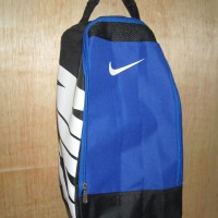 Tas Sepatu Futsal Bola Gym Fitness Nike Hitam Biru Putih
