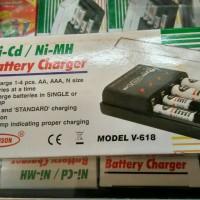Alat charger batry AA dan AAA 1 wadah