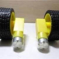 harga DC gearbox motor + roda wheel (1 pasang) Tokopedia.com