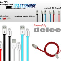 Jual Zaxti 100cm Flat Cable Max.2A by Delcell Murah
