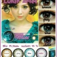 Softlens Luna Eye Zodiac Aries / Soft Lens Water 55% Made in Korea