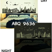 Jual Wall Stiker Glow In The Dark Uk.60x90 Wall Sticker Shanghai Blues Murah