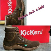 Sepatu kickers boot 6 lubang tali