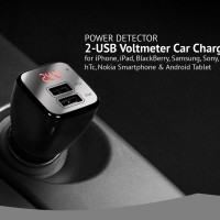 harga Car Charger | Ahha 2-usb Voltmeter Car Charger 2.4a Tokopedia.com
