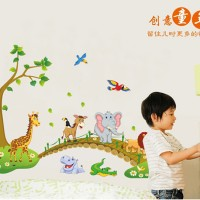 wallsticker 60x90/wallstiker trans ABC1041-CROSSING ANIMAL