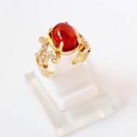 harga Cincin Batu Siem Orange Xuping Gold Lapis Emas - Cincin Akik Wanita Tokopedia.com