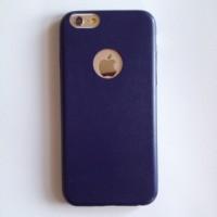 harga IPHONE 6 6Plus 6+ SEMI LEATHER ELASTIC SOFT CASE CASING COVER BLUE Tokopedia.com