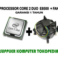 Intel Core 2 Duo Processor E8500 + FAN (6M Cache, 3.16 GHz, 1333)