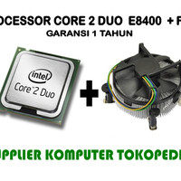 Intel Core 2 Duo Processor E8400 + FAN (6M Cache, 3.0 GHz, 1333 FSB)