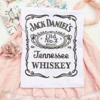 "Tumblr Tee / T-shirt / Kaos ""Jack Daniels"" in White"