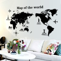 Map of The World AY9133 - Stiker Dinding / Wall Sticker