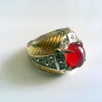 Cincin Batu Obsidian Merah-1 (CBOM01)