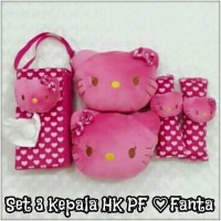 Bantal Mobil 3 in 1 Kepala HELLO KITTY PF Love FANTA