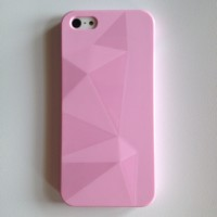 IPHONE 5 5S JELLY DIAMOND SOFT CASE CASING COVER BABY PINK